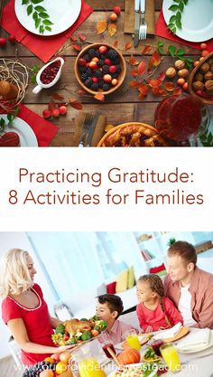Practicing Gratitude: 8 Activities for Families Thanksgiving Traditions, Thanksgiving Activities, Thanksgiving Sides, Thanksgiving Crafts, Family Traditions, Thanksgiving Decorations, Family Activities, Happy Thanksgiving, Mindful Parenting