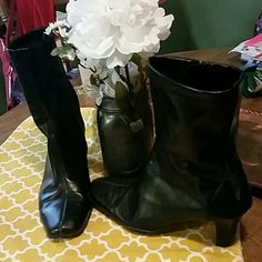 Reduced!Black Leather Boots