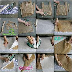 How To Fuse Plastic Bag Fabric Hacer Tela De Bolas Plásticas Fusionadas Con Calor