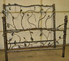 Metal Forged Vine Bed - Item # BR04048 - Available in Queen & King