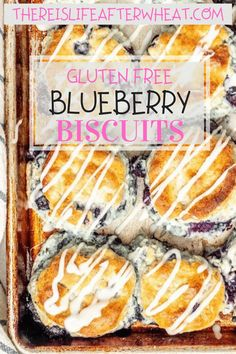 Perfect for breakfast or brunch, these beautiful gluten free blueberry biscuits are perfectly light and fluffy, slightly sweet, and studded with blueberries. Dairy free option included. Gluten Free Crepes, Gluten Free Blueberry, Gluten Free Recipes For Breakfast, Best Gluten Free Recipes, Gluten Free Breakfasts, Gluten Free Flour, Fall Recipes, Blueberry Biscuits, Dairy Free Options