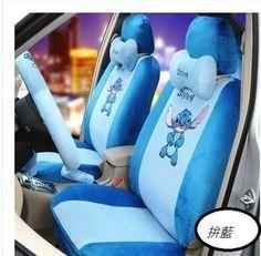 New Stitch Car Seat Covers Accessories Set 19PCS Plush A in eBay Motors, Parts & Accessories, Car & Truck Parts   eBay