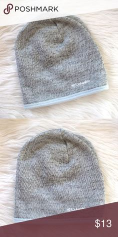 4a03c07d601 Columbia Herringbone Knit Fleece Lined Ski Hat Columbia women s gray  herringbone knit winter hat with light blue fleece lining. Brim can be worn  folded up ...