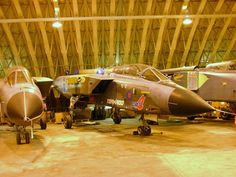 Mothballed Tornado GR1 and GR4 Jets Await Scrapping at RAF Shawbury