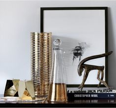 Update your home with new metallic accessories in silver, brass and gold.