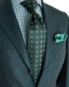 Kiton   Green Mini Houndstooth Sportcoat   Apparel   Men's