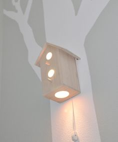 Hey honey! Just figured out what to do with all those bird houses :D - for a girl's nursery or outdoor lighting.