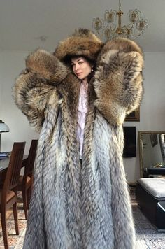 """""""The best days start out with fur """" Puffer Coat With Fur, Sable Fur Coat, Cosy Outfit, Fur Bedding, Winter Fur Coats, Fur Clothing, Fox Fur Coat, Mohair Sweater, Fur Fashion"""