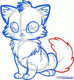 how to draw an anime fox step 7
