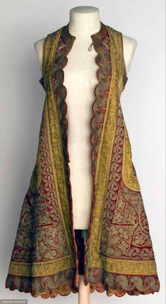 Woman's Sleeveless Coat, Albania, C, Augusta Auctions, November Clothing And Textile, Antique Clothing, Beautiful Outfits, Cool Outfits, Vintage Outfits, Vintage Fashion, Sleeveless Coat, Mode Boho, Looks Style