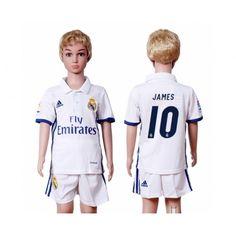 Real Madrid Trøje Børn 16-17 #James Rodriguez 10 Hjemmebanesæt Kort ærmer.199,62KR.shirtshopservice@gmail.com