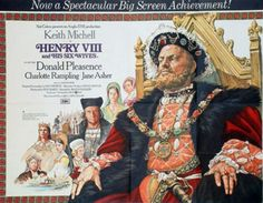 HENRY VIII AND HIS SIX WIVES    (Waris Hussein, 1972)  Stars: Keith Michell, Donald Pleasence, Charlotte Rampling, Jane AsherOn his deathbed,   King Henry VIII looks back over his eventful life and his six marriages.