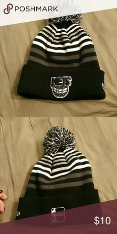 Black and white Nets beanie Never worn beanie from Lids Accessories Hats