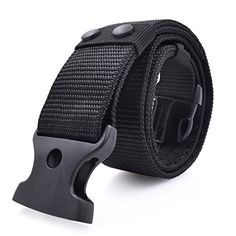 Heavy Duty Police Army Security Guard Paramedic Utility Tool Web Canvas Belt Quick Release Mens Tactical Combat Gear Nylon Military Belt - Product Features: Material:100% Nylon + Plastic buckle Buckle Width:4.2cm(1.65 Inch),Buckle Length: 6cm(2.36 Inch) Size(Approx):Total Length:120cm(47 Inch),Strap Width:5.5CM(2.16 Inch) Adjustable size: 25-34Inch This strong quality nylon military tactical belt is suitable for all men as rigger ta...