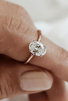 Oval Engagement Rings That Every Girl Dreams ★ See more: https://ohsoperfectproposal.com/oval-engagement-rings/ #nails