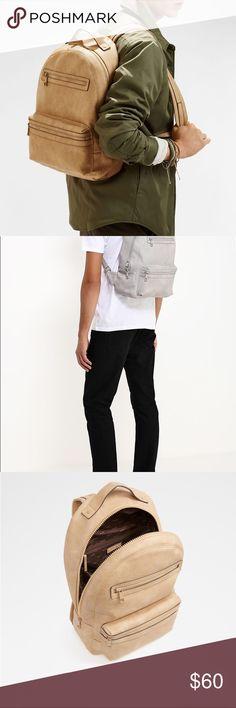 Aldo Unisex Larkspur Backpack 🎒 Natural/Grey CHOOSE COLOR 100% Polyurethane Imported Pockets: interior slip, interior zip, exterior, ID windows, card slot Aldo Bags Backpacks
