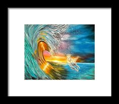 Framed Art Print,  ocean,scene,waves,seascape,sunset,sunrise,nature,big,high,water,rough,wild,crashing,breaking,horse,running,light,crystal,fantasy,beautiful,colorful,multicolor,blue,gold,golden,bright,impressive,image,fine,oil,painting,contemporary,scenic,modern,virtual,deviant,wall,art,awesome,cool,artistic,artwork,for,sale,home,office,decor,decoration,decorative,items,ideas