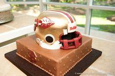 Florida State football helmet groom's cake - Houston wedding photography - MD Turner Photography