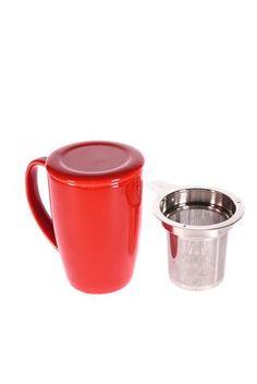 """Tasse """"For Life"""" de couleur rouge"""