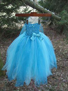 Frozen Elsa Tutu Dress with Matching Dress by MissHubbardsCupboard, $85.00