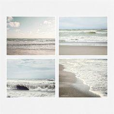 Beach Decor Print Set of 4 Landscape Photographs Ocean Decor Beach Pictures Pale blue tan taupe neutral beach art. Coastal Art, Coastal Style, Coastal Living, Landscape Photography Tips, Landscape Photographers, Villa, Beach Themes, Beach Decorations, Beach Art