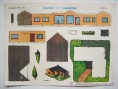 LAMINA RECORTABLES EVA. Nº1301 MODELO CASA DE CAMPO. AÑOS 60 - Foto 1