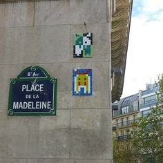 Place de la Madeleine Invader Paris, Space Invaders, Street Names, Paris Street, Street Artists, Letters And Numbers, Rues, Squares, Wander