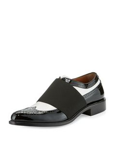 Show+Richelieu+Icon+Oxford,+Black/White+by+Givenchy+at+Neiman+Marcus.