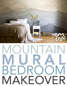 This artist was curious about what her artwork would look like on a bigger scale. The larger sized mountain design was easy to translate and transfer the mountains onto the master bedroom wall. The indoor mural transform the atmosphere in the whole room and inspired a mural side business!