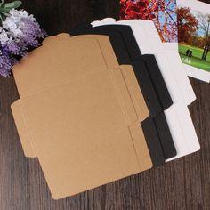 10PCS/lot Vintage 350g Blank Kraft Paper DIY Multifunction Envelope  postcard box  Package paper 3 Colors for choose #Affiliate