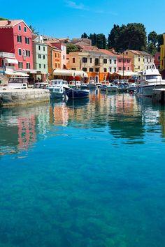 The Picturesque fishing harbour of Veli Losinj called Rovenska in Croatia