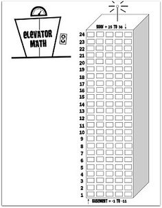 Elevator Math (up & down, add & subtract). Looks like a great idea!