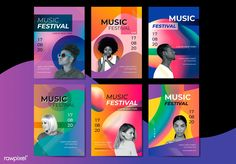 Bright music poster Free Vector Happy music for everyone! Vintage Grunge, Vector Free Download, Free Vector Graphics, Banners, Magazine Layout Design, Party Poster, Festival Posters, Creative Advertising, Social Media Design