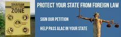 Protect your constitutional rights and your state from foreign laws. Sign our petition and share the images with your friends.
