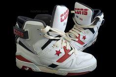 separation shoes 38ca8 decd9 converse ERX 360 white red, a pair hi-top basketball sneakers Cosas Para