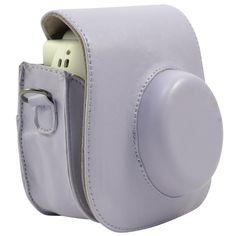Katia PU Leather Fuji Fujifilm Instax Mini 8 Case Bag with Shoulder Strap for Fujifilm Instax Mini 8 Camera (Purple 1)
