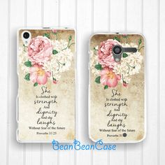 proverbs 3125 vintage flower art case for sony xperia and moto phone case by BeanBeanCase, $9.95