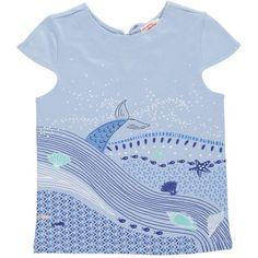 Tee-shirt manches courtes fille Bleu