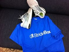 Stridebox 100% cotton running t-shirts are here... still gearing up for a late Fall launch.