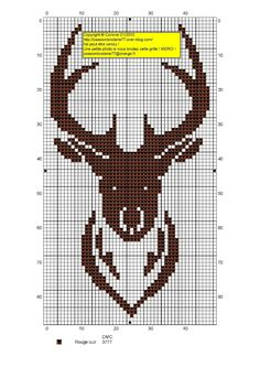 A stag! Site has other free charts, but all in French. Would look awesome on the front of a sweater