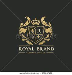 Royal Brand Logo,Crown logo,Lion Logo,Crest logo,Vector logo template - stock vector