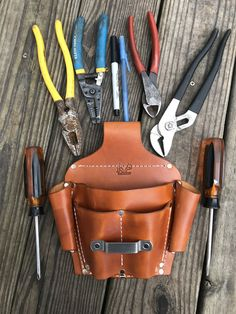 Heavy Duty Multiple Tool Pouch for Belts - Christmas-Desserts