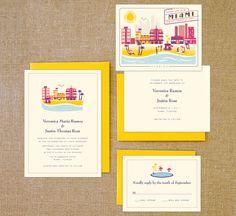 miami invitations #wedding #invitation