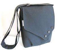 "Adorable handmade messenger style laptop bag. Wish it fit a 15"" MacBook Pro."