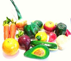 Faux Fake Fruit Vegetables 15 Pc Papier Mache Home Stage Props Fall Decor