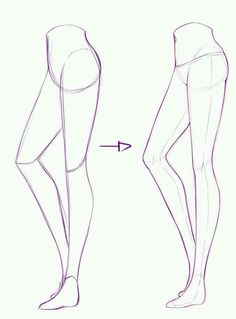 How to draw manga legs