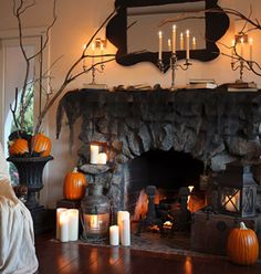 halloween decorations for the mantel from love manor the home depot halloween crafts ideas pinterest fireplace mantel spooky halloween