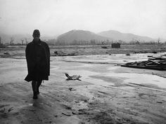 A Japanese soldier walks through a completely leveled area of Hiroshima in September of 1945.- Pin it by GUSTAVO BUESO-JACQUIER