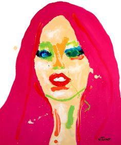 "Neal Turner; Oil, 2013, Painting ""Brigitte Bardot"""