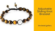 Adjustable Sliding Knot Bracelet -  Feng Shui Style at The Bead Gallery